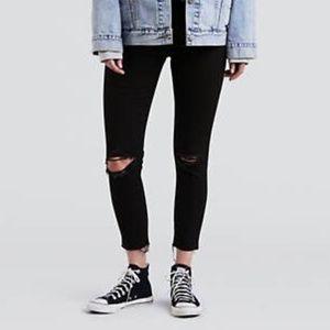 NWT Levi's Wedgie Skinny Women's Black Jeans 32